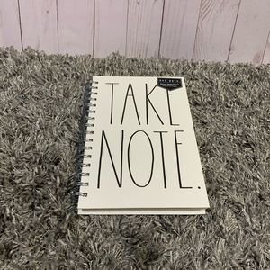Rae Dunn TAKE NOTE notebook brand new .